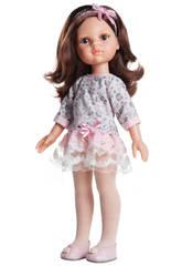 Boneca 32 cm Carol As Amigas Vestido Flores Paola Reina 4502