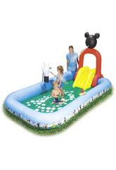 Centro De Juegos Mickey Mouse Con Tobogan 320x175x157cm Bestway 91016B