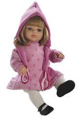 Berjuan Baby Doll 40 cm Laura bionda con vestitino rosa