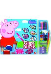 Manualidades Giga Block Peppa Pig 5 En 1 Cefa Toys 21804