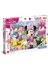 Puzzle Minnie Glitter 104 Peças Clementoni 20146
