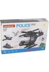 Helicóptero de Policía S.W.A.T Bloques de Construcción 73 Piezas