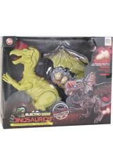 Dinosaurio Alado 32 cm. Andador con Luz, Sonido y 3 huevos