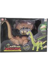 Dinosauro 45 cm Camminante con Luci, suoni e 3 uova