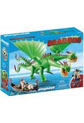 Playmobil Dragons Testabruta e Testaditufo con Vomito e Rutto 9458