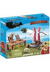 Playmobil Dragons Skaracchio con lanciatore di pecore 9461