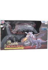 Dragon Ailé qui Marche avec Lumière et Son de 40 cm.