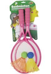 Conjunto de duas raquetes de badminton com duas volantines