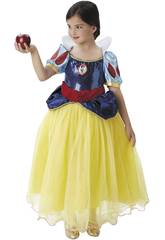 Déguisement Enfant Fille Blanche-Neiges Premium Taille S Rubies 620482-S