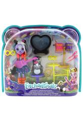 Enchantimals Muñeca Sage Skunk y Su Batería Rockera Mattel FRH41