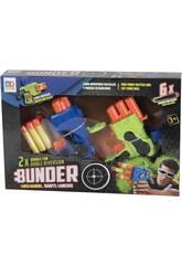 Pistolet à Fléchettes Kit 2 Lanceurs