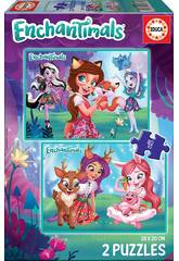 Puzzle 2 x 48 Enchantimals Educa 17933