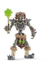 Eldrador Creatures Squelette de Pierre avec Arme Schleich 42450