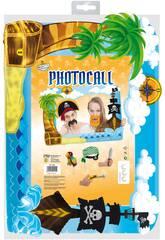 Marco Photocall piratas com acessórios Globolandia 5338