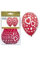 Saco 6 Balões Corações Infláveis Globolandia 5716