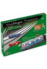 Comboio Elétrico Clássico Locomotora Verde e Estação Pequetren 303