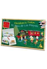 Treno Elettrico Infantile con Luci, Stazione e Tunnel Pequetren 2001