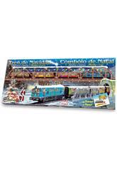 Tren Eléctrico de Navidad con Puente y Túnel Pequetren 500