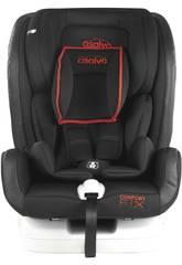 Silla De Auto Grupo 0-1-2-3 Confort Fix Rojo Asalvo 15075
