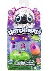 Hatchimals Maison Nid avec Lumière Forêt Fabuleuse Bizak 6192 9133
