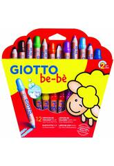 Giotto Bébé Super Crayons avec taille-rayons.