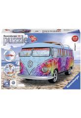 Puzzle 3D Camper Volkswagen T1 Indian Summer 162 pièces Ravensburger 12527