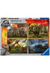 Jurassic World Puzzle 4x100 pezzi Ravensburger 6976
