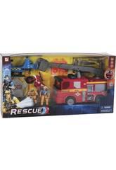 Caminhão De Bombeiros e Helicóptero De Resgate Com Acessórios