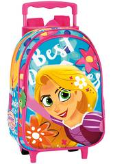 Zaino per bambini con Trolley Disney Rapunzel Castle Perona 55666