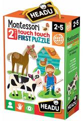 Montessori Touch 2 Piezas Puzzle Granja Fournier 1041742