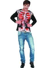 Déguisement Adulte Chemise Zombie Squelette Taille XL