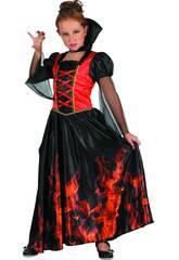 Disfraz Niña Vampiresa Fuego Talla XL