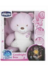 Chicco Paniel Para Berço Ursinho Boas Noites Rosa 91561