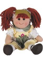 Puppenstoff kariertes Kleid 50 cm.