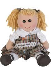 Muñeca Vestido Cuadros 35 cm.