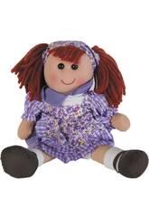 Muñeca Trapo Traje Lila 40 cm.