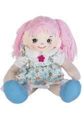 Muñeca Trapo Vestido Azul 40 cm.
