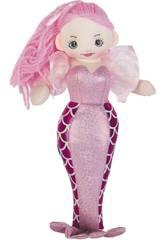 Sirena Rosa Bambola di pezza 30 cm