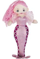 Sirene Rosa Stoffpuppe 50 cm.