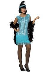 Disfraz Mujer L Charleston Turquesa