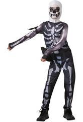 Costume Bimbo Skull Trooper Fortnite Taglia Tween