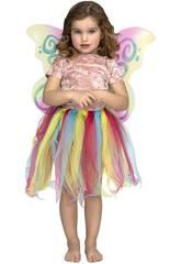 Tutu Regenbogen mit Flügel Größe S