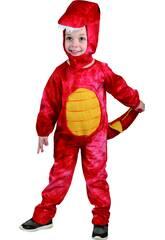 Disfraz Dinosaurio Rojo Bebé Talla S