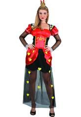 Disfraz Reina de Corazones Mujer Talla S