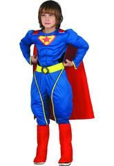 Disfraz Superhéroe Musculoso Niño Talla M