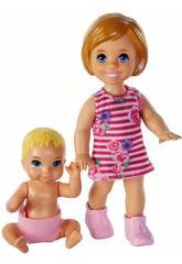 Barbie Skipper Babysitters Pack Hermanos Mattel GFL30
