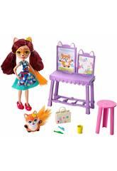 Enchantimals Amiche Magici Colori Playset con Bambola da 15 cm Mattel GBX03
