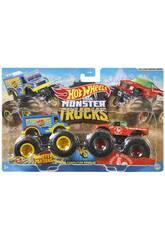 Hot Wheels Vehículos Monster Truck Duetos De Demolición Mattel FYJ64
