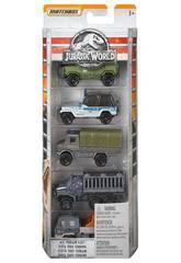 Jurassic World Pack 5 Veículos Die Cast Mattel FMX40