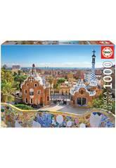 Puzzle 1.000 Barcelone Depuis El Parc Güell Educa 17966